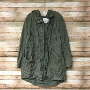 H&M Womens Army Green Utility Casual Jacket 16